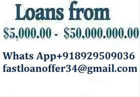 URGENT LOAN OFFER CONTACT WHATSAPP 918929509036